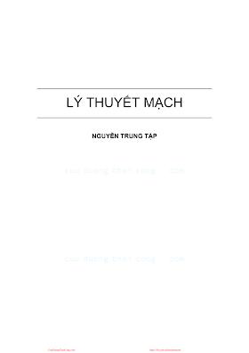 Lý Thuyết Mạch - Nguyễn Trung Lập, 177 Trang.pdf