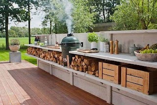 Outdoor Kitchen Area Designs a Great Way to Enjoy a Beautiful Day