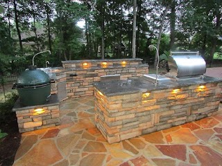 Outdoor Kitchen Island Plans Grill Lamps Edselownerscom Safe And