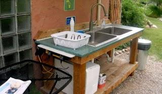 Outdoor Kitchen Sink Station New