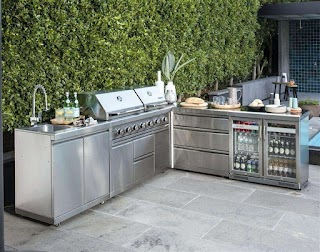 Stainless Steel Outdoor Bbq Kitchen Beautiful