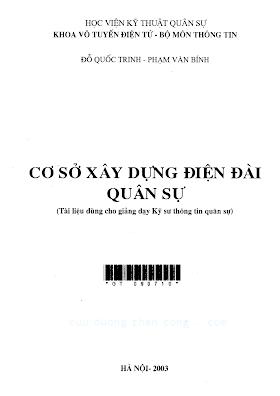 HVQS.Cơ Sở Xây Dựng Điện Đài Quân Sự - Đỗ Quốc Trinh & Phạm Văn Bính, 171 Trang.pdf