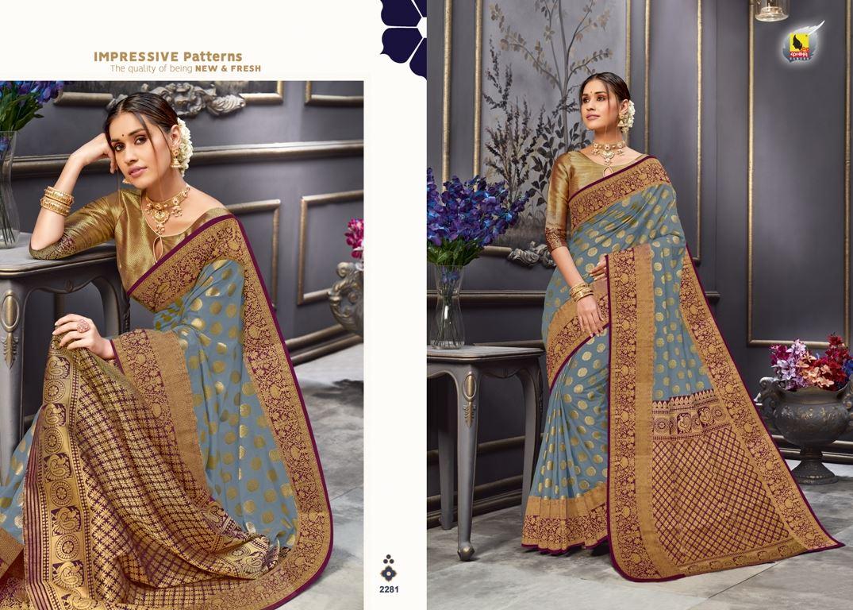 Grey Color Tussar Silk Fabric Fancy Saree