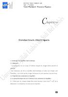 Chap-III conducteurs electriques