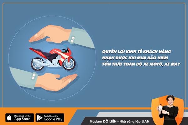 Hỏi đáp ngắn về quyền lợi kinh tế người mua nhận được khi mua sản phẩm bảo hiểm Tổn thất toàn bộ xe môtô, xe máy