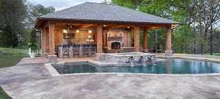 Pool House with Outdoor Kitchen Designs Solutions Jackson Ms