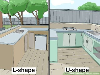 Build a Outdoor Kitchen How to N with Pictures Wikihow