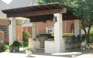 Outdoor Kitchen Roof Ideas Wooden Of