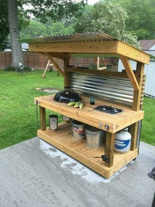 How to Make a Outdoor Kitchen N Upcycled Pllet Grill