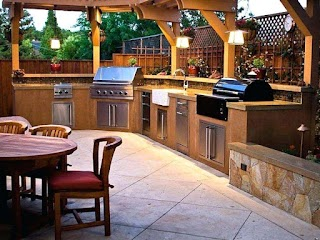 Outdoor Kitchens on a Budget Bckyrd Cool Outside Kitchen Equipment