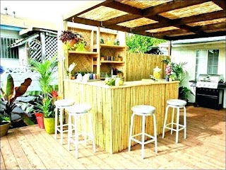Affordable Outdoor Kitchens Severna Park Wood Decor on a Budget