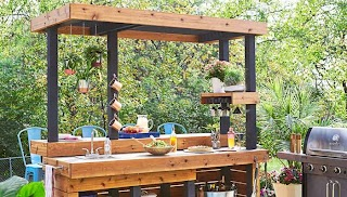 Diy Outdoor Kitchen Plans with Concrete Countertop