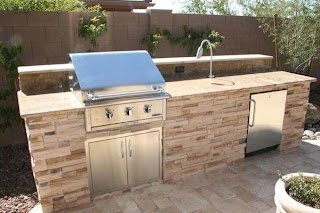 Outdoor Kitchen Grill Tops S and Custom Barbecues Living Phoenix