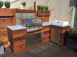 Outdoor Kitchen Wood Attractive S Dion City Landscapes Inc