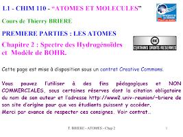 Chapitre 2  Spectre des Hydrogénoïdes et Modèle de BOHR. Cours  de Thierry Briere.pdf