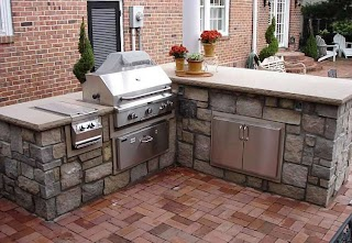 Outdoor Kitchen Components Counter Height Seating Design and Ideas
