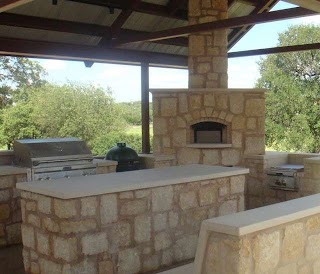 Country Outdoor Kitchen Hill Patio Austin By Texas Oven Co