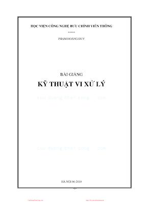 BCVT.Bài Giảng Kỹ Thuật Vi Xử Lý - Phạm Hoàng Duy, 136 Trang.pdf
