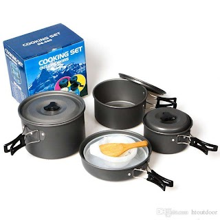 Outdoor Camping Kitchen Equipment 12 in 1 Hiking Backpacking Cookware Travel