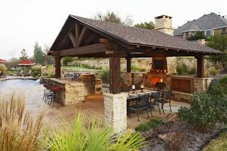 Outdoor Kitchen Fireplace Designs Featuring Pizza Ovens S and Other