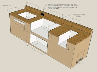 Standard Outdoor Kitchen Dimensions Kryptoguruinfo
