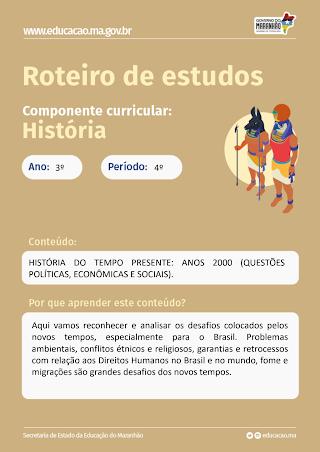 HISTÓRIA DO TEMPO PRESENTE: ANOS 2000 (QUESTÕES POLÍTICAS, ECONÔMICAS E SOCIAIS)