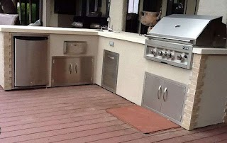 Outdoor Kitchen Stucco Finish Flo Grills in Homey