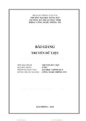 ĐHHH.Bài Giảng Truyền Dữ Liệu - Ths. Ngô Quốc Vinh, 116 Trang.pdf