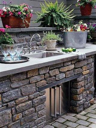 Outdoor Kitchen Decor Pretty Living Spaces Barbeque