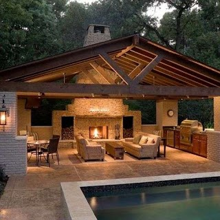 Pool House with Outdoor Kitchen 481x481 Porn