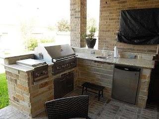 Small Outdoor Kitchen Designs Corner Grill Backyard Design