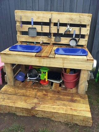 Kids Outdoor Kitchen Pallet Loving From Beenleigh Family Day Care Via Let The