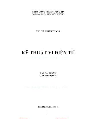ĐHTN.Kỹ Thuật Vi Điện Tử - Ths. Vũ Chiến Thắng, 108 Trang.pdf