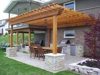 Outdoor Kitchen Pergola Ideas with By Signature Concepts