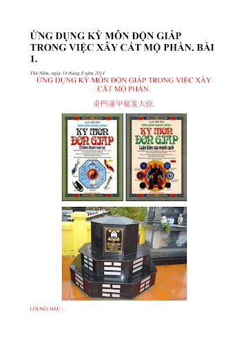 Ứng dụng Kỳ môn độn giáp, Bát quái trận đồ trong việc xây cất mộ phần.sách qúy pdf.pdf