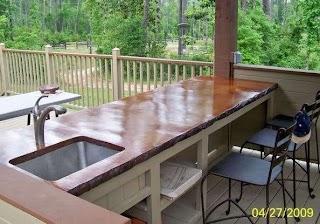 Outdoor Kitchen Wood Countertops Nett 4366 Design Ideas