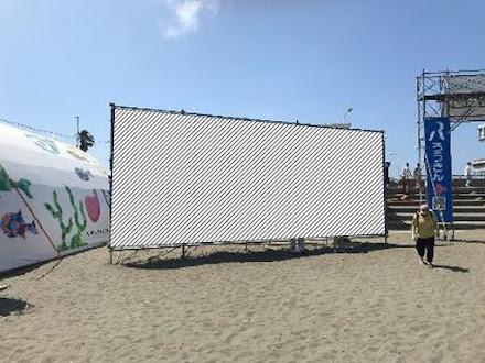 2020年片瀬江ノ島東浜海岸 海の家広告・三角看板