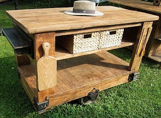 Outdoor Portable Kitchen Island with Stools Build Grill Built