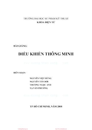 SPKT.Bài Giảng Điều Khiển Thông Minh - Nguyễn Việt Hùng & Nguyễn Tấn Đời, 151 Trang.pdf