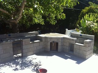 Cinder Block Outdoor Kitchen New Comfortable Home Design with Idea