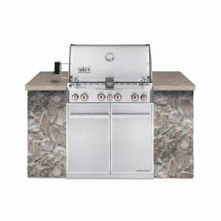 Natural Gas Outdoor Kitchen Summit S460 4burner Builtin Grill in Stainless Steel with Grill Cover and Builtin Thermometer