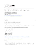 Committee on Health and Human Services