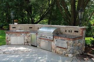 Outdoor Kitchens NJ   Kitchen Stone Ideas Bbq Builtingrill