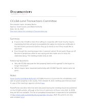 CCLBA Land Transactions Committee