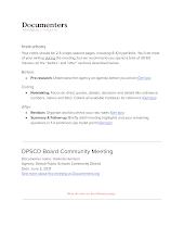 DPSCD Board Community Meeting