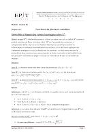 Fonctions De Plusieurs Variables.pdf
