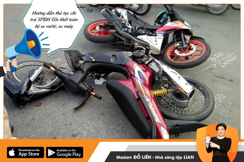 Hướng dẫn thủ tục bồi thường cho SPBH Tổn thất toàn bộ xe môtô, xe máy