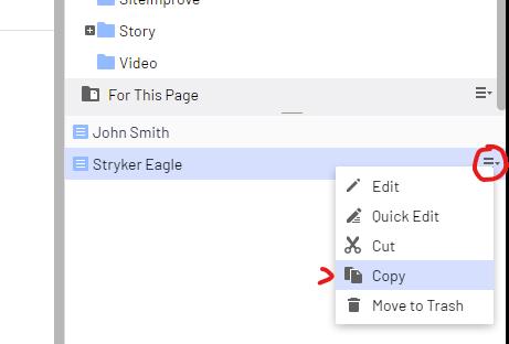 Copy an item