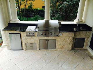 Outdoor Kitchen Parts Custom Island with Dcs Bgb Grill and Double Side