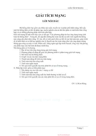 Giải Tích Mạng Điện - Lê Kim Hùng, 114 Trang.pdf